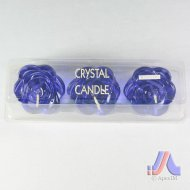 Crystal Candle - 3 Pcs. Flower Shape
