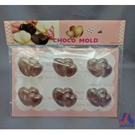 Choco Mold Twin Heart