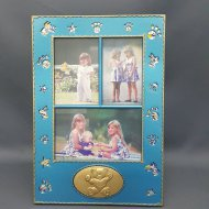 5R Bear Print 3 Slot Photo Frame