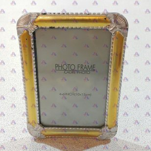 PHOTO FRAME SILVER & BRASS COLOR 4R