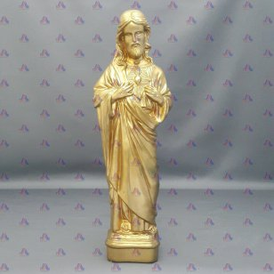 GOLD PAINTED JESUS STATUE