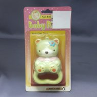 Baby Rattle Bear Green