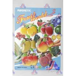 S/6 FRUIT MAGNETS (MANGO,APPLE)