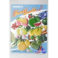 S/6 FRUIT MAGNETS (WATERMELON,PINEAPPLE)