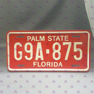 NUMBER PLATES BIG FLORIDA
