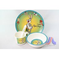 CHILDREN DINNER SET BUNNY